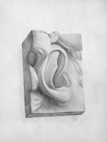 Рисунок гипсовая голова рисунок